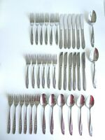 Oneida Stainless Steel Rose Design 6 Person Cutlery Set 38 Pieces