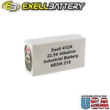 Exell 412A Alkaline 22.5V Battery NEDA 215 Replaces 15F20,BLR122,V72PX