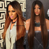 Ombre Brazilian Virgin Human Hair Wig Remy Full/Front Lace Wigs Silky Straight