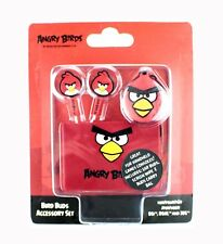 Angry Birds Casque In-Ear stéréo Rouge iPhone iPad iPod 3DS accessoire lot NEUF