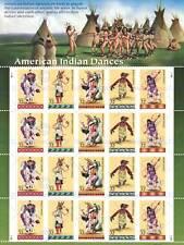 Estampillas Postales indio americano nativo Dance USA arte cartel impresión foto CC6774