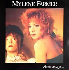 VINYLE LP ALBUM MYLENE FARMER AINSI SOIT JE.. EDITION FRANCE EXCELLENT ETAT 1988