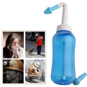 Nasal Sinus Rinse Bottle Nose System Cleaner Wash Water Pressure Neti Pot 300 ml