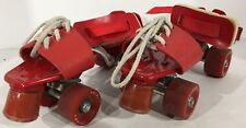 Vintage Rare Strap Lace On To Your Shoe Adjustable Roller Skates With Brakes