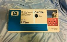 HP Q6470A 6000-Page Laser Toner Cartridge - Black.  In sealed box.