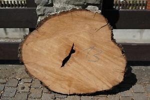Baumscheibe Holzscheibe Tischplatte Couchtisch Epoxy Birnbaum 78 x 65 x 7 cm 13