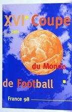 Inserire 1° giorno LENTI Calcio Francia 98 blocco 4 francobolli