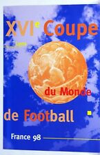 Encart  1er jour LENS  Football  France 98 bloc 4 timbres notice
