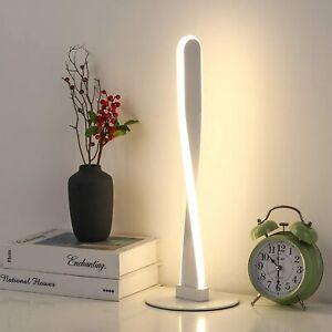 Spiral LED Table Lamp Modern Desk Lamp Warm White Light Bedside Nightstand Lamp