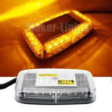 24 LED Amber Flash Traffic Advisor Emergency oval Roof Mini Strobe Warning Light