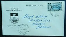 Bahamas 1964 6d First Day Cover New Constitution