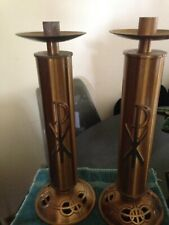 2 Vintage Church Alter Brass? Candle Holders