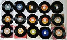 15 Mix lot Records 45 Rpm Rock Pop R & B Country Not Tested Used Classic Songs