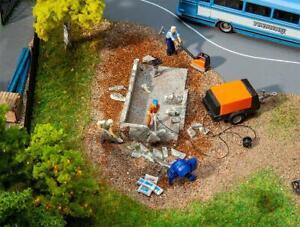 Faller 180344 Baumaschinen-Set, Miniaturwelten Bausatz H0 (1:87)