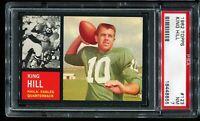 1962 Topps Football #123 KING HILL Philadelphia Eagles PSA 7 NM