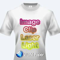 IMAGE CLIP Laser Light Self-Weeding Heat Transfer Paper - 8.5 x 11 - 10 Sheets
