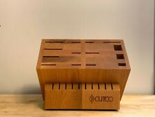 Cutco Signature Wood Block 24 Slots Honey Oak Color Made In Usa