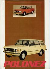 Catalogue brochure prospekt FSO 125 P Polonez 1985 NL