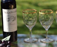 Vintage GOLD RIMMED Wine Glasses, Set of 4, Vintage Cocktail Glasses