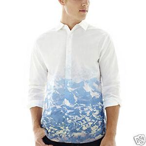 Walker Refinery Mountains Long-Sleeve Woven Shirt Size XXL New