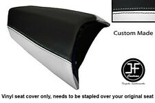 WHITE & BLACK VINYL CUSTOM FITS PEUGEOT JETFORCE 50 125 REAR SEAT COVER ONLY
