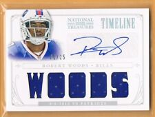 2013 National Treasures Robert Woods Autograph Rookie Jersey 01/25 Bills