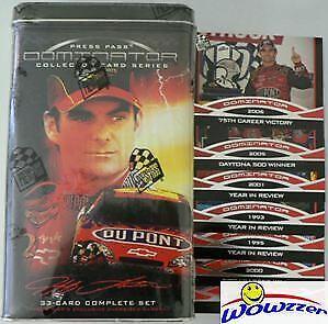 2006 Press Pass Jeff Gordon DOMINATOR Factory Sealed Tin-33 Cards Set+Jumbo $20