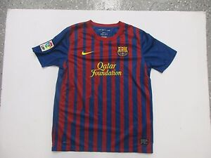 NIKE FC BARCELONA XL YOUTH/WOMEN'S SEWN DRI-FIT HOME JERSEY PRE OWNED
