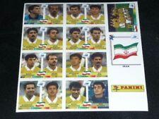 IRAN SET Complete Panini Album WC FRANCE 98 sticker cromos wm 1998 Satz euro 80