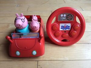 Peppa Pig Drive and Steer Remote Control Car with Car Sounds and Theme Tune
