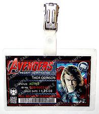 Marvel Avengers ID Badge Thor Superhero Cosplay Costume Prop Novelty Halloween