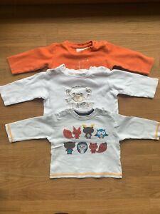 3 x Baby Sweatshirts mit Print / Applikationen 62/68