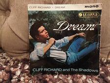 "Cliff Richard and The Shadows Dream RARE Mono 7"" Single"