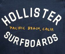 Hollister Mujer Azul Medio Tablas de Surf Top Corto Sudadera con Capucha