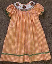 Girls Smocked Thanksgiving Turkey Dress Size 5