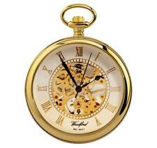 Woodford Gold Plated Mechanical Skeleton hand Wind Pocket Watch. ref 1030