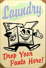 Retro Vintage Laundry Sign