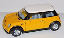 Kinsmart Mini Cooper Diecast Car Toy  1:28 KT5042D Yellow Pull Back Action New