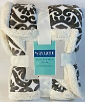 """Wayland Square  Deluxe Sherpa Throw  50"""" x 60"""" - Plush & Luxurious Comfort"""