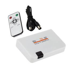 New HDMI To RF Coaxial Modulator Converter Analog Signal Transmitter Box For TV