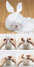 15 pcs Easter Sweets Gifts Presentation Bags White Bunny Long Ears Rabbit Party