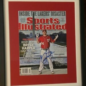 Bryce Harper Framed Autographed Sports Illustrated with JSA COA