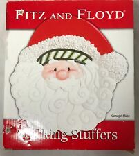 Fitz and Floyd Santa Claus Canapé Plate Stocking Stuffers Collection 2007