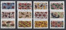 série  tissus d'inspirations africaines N° 1657àN°1668 oblitérés adhésifs  2019