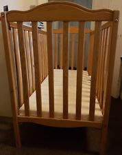 2 in 1 Cot Bed and Foam Mattress - Wood