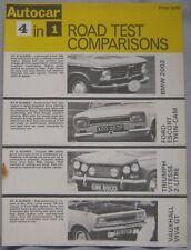 AUTOCAR road test featuring Ford Escort, Vauxhall Viva GT, Triumph Vitesse, BMW