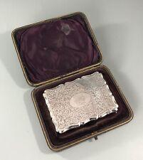 More details for victorian boxed card case colen hewer birmingham 1892 abezx