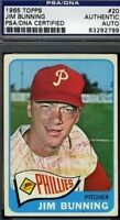 Jim Bunning Vintage Signed 1965 Topps Psa/dna Certed Autograph Authentic
