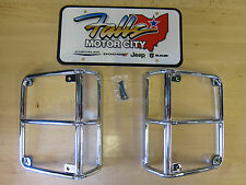 2007-2018 Jeep Wrangler JK Chrome Taillight Covers Mopar OEM