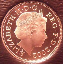Cameo Proof Great Britain 2002 Penny~Crowned Portcullis~Free Shipping